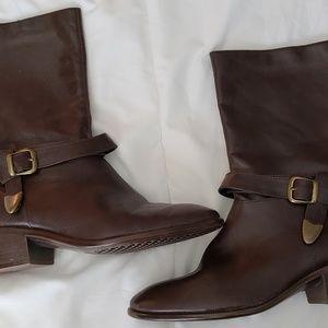 Aerosoles mid calf buckle boots